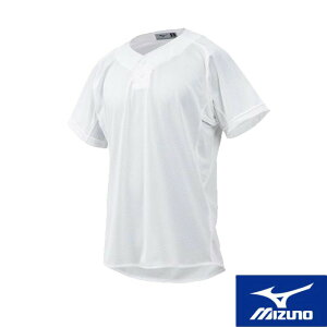 MIZUNO(ミズノ) 練習用シャツ(セミハーフボタンタイプ)[ジュニア] 野球用 スポーツウェア トレーニングウェア ユニフォームシャツ ベースボール 名入れ可能 12jc8f8901