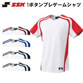 SSK(エスエスケイ) 1ボタンプレゲームシャツ スポーツウェア トレーニングウエア 野球用品 ベースボール