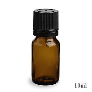 スタンダードタイプ遮光瓶(茶色)黒キャップ10ml 20本セット 20%割引バルク販売(ドロッパー付きセイフティーキャップ)