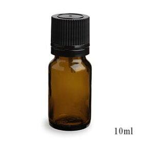 スタンダードタイプ遮光瓶(茶色)黒キャップ10ml 50本セット 40%割引バルク販売(ドロッパー付きセイフティーキャップ)