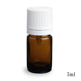 スタンダードタイプ遮光瓶(茶色)白キャップ5ml (アルコール、エタノール対応)10本セット 10%割引バルク販売(ドロッパー付きセイフティーキャップ)