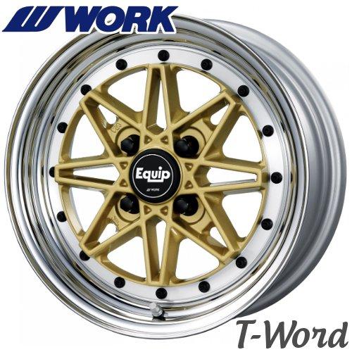 WORK EQUIP 03 (ゼロスリー) 15inch 5.5J PCD:100 穴数:4H カラー:ゴールド(GLD)/ブラックカットクリア(BP) ワーク エクイップ K-car専用