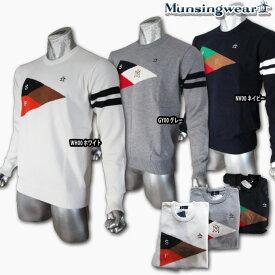 マンシングウェア(Munsingwear) フラッグ柄クルーネックセーター