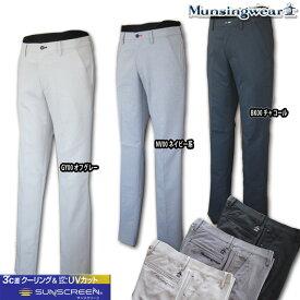 マンシングウェア(Munsingwear) sunscreen 変形ヘリンボンstretchパンツ