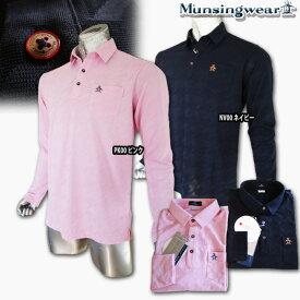 マンシングウェア(Munsingwear) リンクス千鳥ジャガードポロ