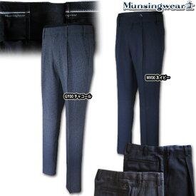マンシングウェア(Munsingwear) ウエストフリー グレンチェックstretchパンツ