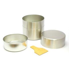 【茶道具/茶漉し】抹茶篩缶(抹茶ふるい缶)ステンレス(大)