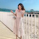 ワンピース サマードレス ミモレ ワンピース ミモレ丈 膝丈 S M L XL 20代 30代 40代 大きいサイズ 体型カバー ホワイト 白 ビーチ ドレス