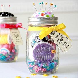【ランキング2位】メイソンジャー Ball Mason jar 誕生日 ギフト 贈り物 ピンクッション 小物入れ 針山 裁縫 手芸 アメリカ BALL メイソンジャー 《レギュラーマウス 16oz 480ml》 保存ビン
