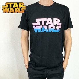 STAR WARS スター・ウォーズ Tシャツ ロゴ オープニング メンズ ブラック タトゥイーン ダークサイド 映画Tシャツ