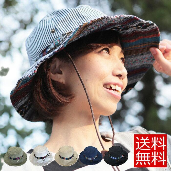 サファリハット ハット サファリ ネイティヴ柄 夏フェス hat レインハット UV帽子 メンズ 登山 帽子 レディース