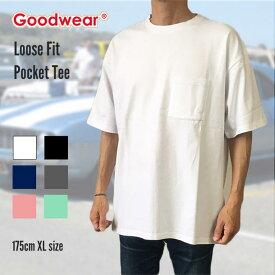 GOODWEAR グッドウェア ポケT tシャツ 半袖 リブ ルーズフィット Tシャツ ポケット ルーズフィット XL 7.0oz