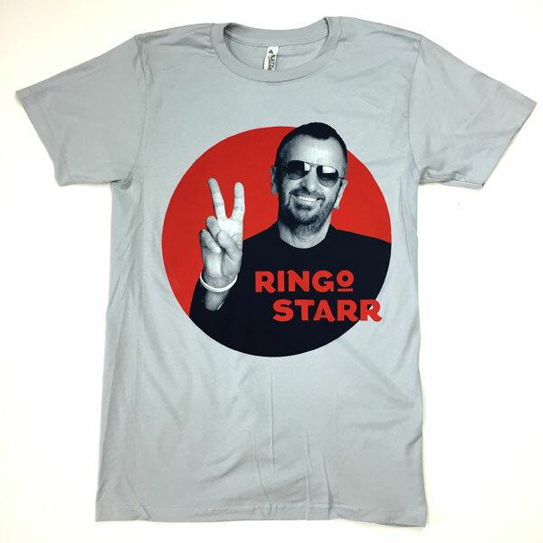 """ロックTシャツ バンドTシャツ The Beatles ビートルズ Tシャツ Ringo Starr リンゴ・スター"""" ピースサイン メンバーイラスト 限定Tシャツ グレーTシャツ ROCK メンズTシャツ Tシャツ"""