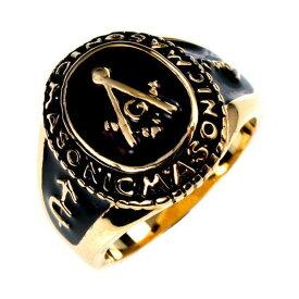 超希少新品 FREE MASON フリーメイソン リング カレッジリング freemason 送料無料 秘密結社 都市伝説 メンズリング 指輪【楽ギフ_包装】