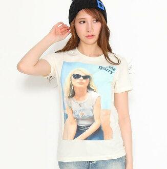 """""""金髮美女-金髮美女""""黛比 · 哈莉""""米色太陽鏡 Dirtcotton 女裝 T 恤"""