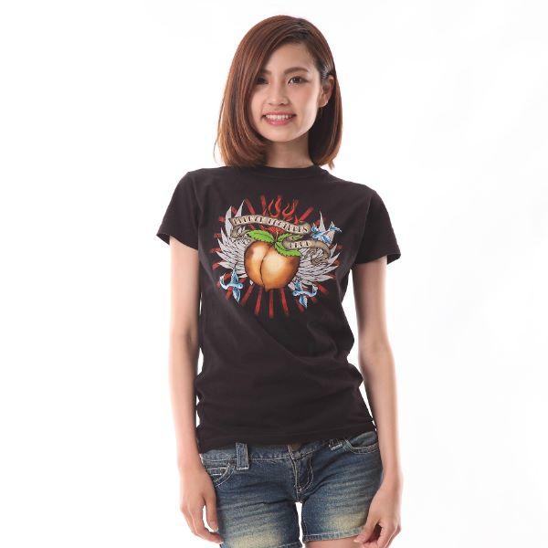 Allman Brothers Band オールマン・ブラザーズ・バンド Eat a Peach ピーチマーク ブルーバード イラスト ブラック プリントTシャツ 限定Tシャツ ロック 70年代 Tシャツ