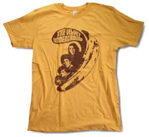 """【ロックTシャツ★バンドTシャツ】【Velvet Underground and Nico★ヴェルヴェットアンダーグランド】 70's ROCK 限定Tシャツ """"Banana with Band"""" イエローロックTシャツ"""