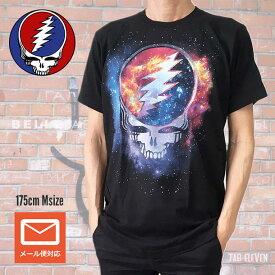 ロックTシャツ バンドTシャツ Grateful Dead グレイトフル・デッド Steel Your face 宇宙 ブラック Tシャツ ROCK グレイトフルデッド フェスT バンドT 正規品 送料無料