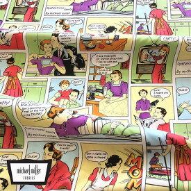Michael Miller マイケルミラー アメコミ 生地 50's フィフティーズ アメリカ ファブリック生地 コミック風 子供服 男の子 アメコミ柄 手芸 DIY 綿100% コットン100% シーチング 生地