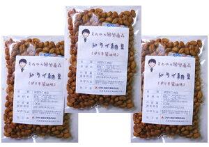 豆力 国内産 ドライ納豆(ピリ辛醤油味) 100g×3袋  【国産、干し納豆、乾燥納豆 おつまみ】