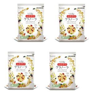 ふわサク フルーツ&ナッツグラノーラ 240g×4袋  【宅配便送料無料】【日食 オーツ麦 シリアル 乾燥果実 玄米】