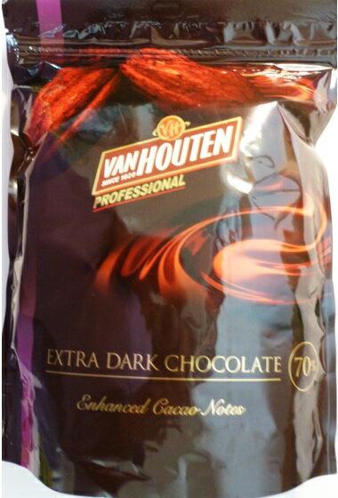 バンホーテン エキストラダーク チョコレート 1kg   【Van Houten EXTRA DARK CHOCOLATE】