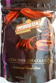 【宅配便送料無料】 バンホーテン エキストラダーク チョコレート 1kg   【Van Houten EXTRA DARK CHOCOLATE】