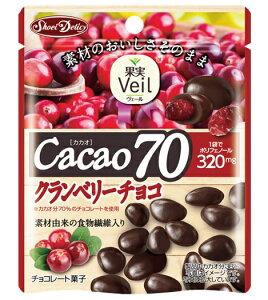 グルメな栄養士セレクト洋菓子 カカオ70クランベリーチョコ 41g×10袋  【果実Veil 正栄デリシィ チョコレート ぶどうチョコ】