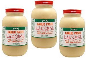 ユウキ食品 にんにくおろし 1kg×3個  【YOUKI マコーミック ガーリックペースト 国内製造】
