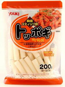 【見切り】ユウキ食品 国産トッポギ  200g   【YOUKI 国内産 韓国食材 国内産米粉 韓国餅】