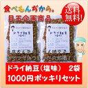 【メール便送料無料】 豆力 国内産 ドライ納豆(塩味) 100g×2袋 1000円ポッキリ!セット  【国産 干し納豆 …