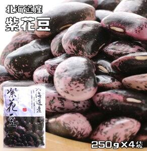 豆力 北海道産 紫花豆 1kg