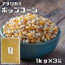 【宅配便送料無料】 まめやの底力 大特価!! アメリカ産 ポップコーン 1kg×3袋 【Pop Corn 3kg】