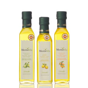 フレーバーオリーブオイル 250ml 3種類セット レモン マンダリン ベルガモット 飲むオリーブオイル トルコ産 Monteida モンテイダ エキストラバージン エキストラヴァージン アイヴァルク種 一