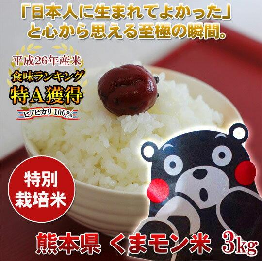 食味ランキング特Aくまモン米3キロ