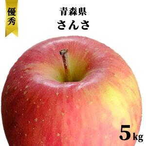 減農薬 青森県 りんご 5kg 優秀 贈答用 ギフトさんさ 葉とらず【赤りんご/林檎/リンゴ/果物/フルーツ/化学肥料不使用/5キロ/送料無料】