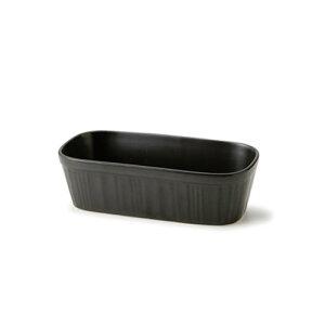 黒マット ティラミス スフレ Lサイズ(アウトレット含む)日本製 磁器 容器 ココット スフレ 食器 黒 食器 おしゃれ