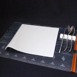 Paper style 23cmフラットプレート (アウトレット)日本製 磁器 陶板 絵付け皿 白い食器 オードブル 角皿 白 おしゃれ 業務用食器