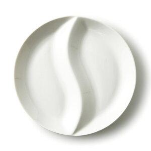 【B級品 スーパーアウトレット】大サイズ いるか二つ仕切り日本製 磁器 お子様 ランチプレート キッズ 子供 二つ仕切り 皿 業務用食器 食器 おしゃれ 白 白い食器