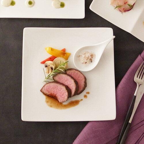 ALPHA アルファ 25cm 正角皿 アウトレット含む 日本製 磁器 白い食器 ランチプレート 角皿 大皿 スクエア プレート 業務用食器 四角 食器 白