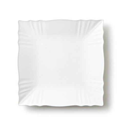 WRINKLE リンクル 25cm プレート Lサイズ アウトレット含む 日本製 食器 白 磁器 白い食器 大皿 スクエアプレート 業務用食器 おしゃれ 四角