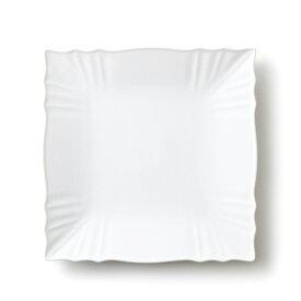 リンクル 25cm プレート Lサイズ (アウトレット含む)日本製 食器 白 磁器 白い食器 大皿 スクエアプレート 業務用食器 おしゃれ 四角