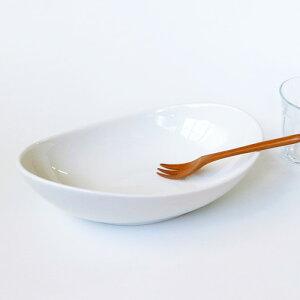 26cm ツイストベーカー (アウトレット)パスタ皿 カレー皿 食器 白 日本製 磁器 白い食器 おしゃれ 楕円 業務用食器