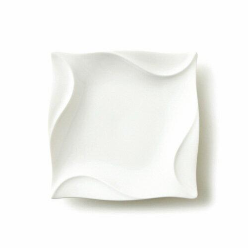 CYCLONE サイクロン 20cm 角皿(アウトレット含む)日本製 磁器 パスタ皿 白い食器 スクエア 業務用食器 食器 皿 おしゃれ 四角