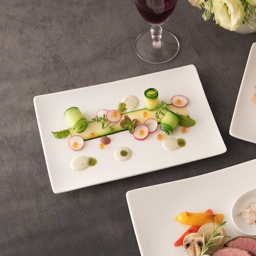 ALPHA アルファ 24×16cm 長角皿M(アウトレット含む)【日本製 磁器】【白い食器 取り皿 スクエア 魚皿 食器 白 プレート 皿 白 食器 おしゃれ レクタングル 業務用食器】