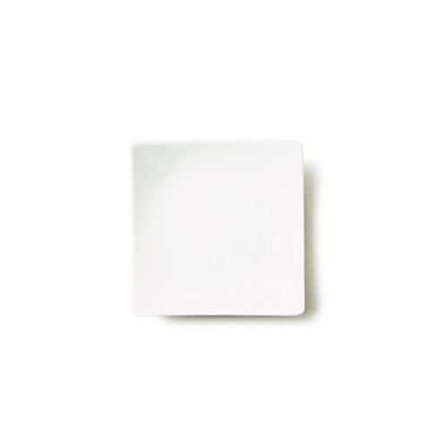 【スーパー アウトレット】アルファ 13cm 正角皿 日本製 磁器 食器 白 角皿 小皿 ポーセリンアート 白い食器