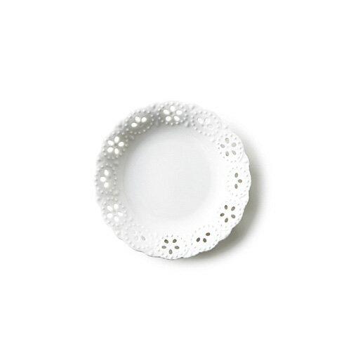 Fino フィーノ 小皿 アウトレット含む 白い食器 日本製 磁器 透かし皿 小皿 丸皿 食器 白 デザートプレート ポーセリンアート 陶絵付け ホワイト プレート 皿 おしゃれ 丸皿
