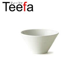 Teefa ティーファ 16cm深ボウル Mサイズ (アウトレット)日本製 磁器 業務用食器 食器 白 中鉢 シリアルボウル 丼 どんぶり つけ麺鉢 おしゃれ 白い食器