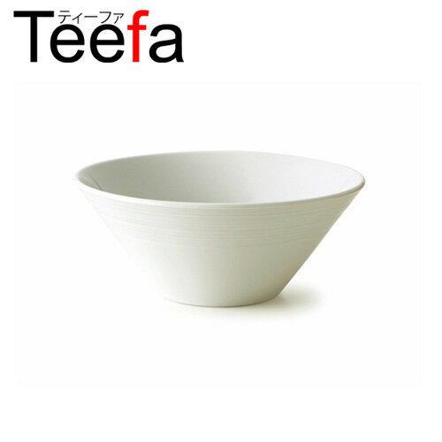 Teefa ティーファ 21cmボウル(アウトレット含む)【日本製 磁器】【業務用食器 白 ラーメン丼 らーめん鉢 ラーメン鉢 大鉢 食器 プレート 皿 おしゃれ】