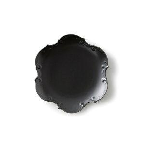 黒マット DoTu ドツ 20cmプレート (アウトレット含む)日本製 磁器 美濃焼 食器 ケーキ皿 デザートプレート 業務用食器